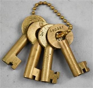 Vintage AT&SF, UP Adlake Switch Keys
