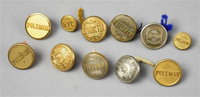 Misc Vintage Lot Railroad Worker Uniform Buttons