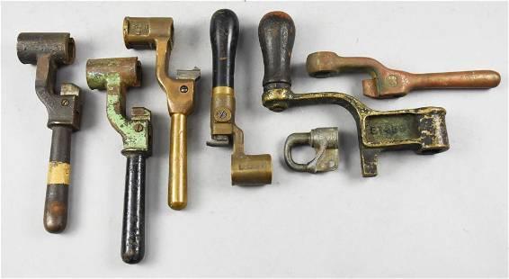 Vintage/Antique Railroad Signal Lock & Lever Handles