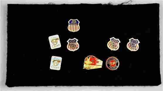 Vintage Railroad Lapel Pins, Santa Fe and More