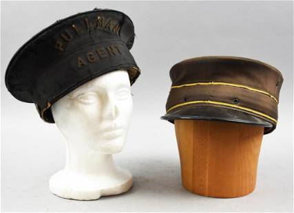 Antique Conductor/Pullman Agent Hats
