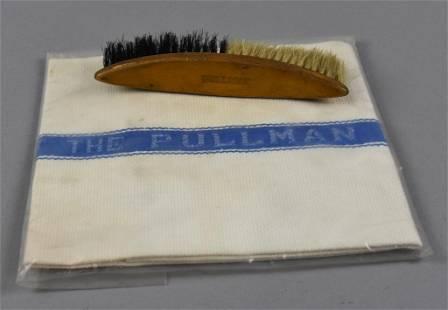 Vintage Pullman Hat Brush and Porter Towel