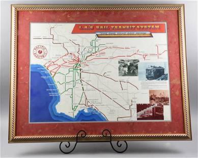 Pacific Electric LA's Transit System Map