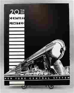RARE 20th Century Limited New York Central Train Poster