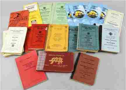 Large Lot Vintage Railroad Regulation Books & More