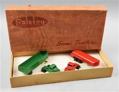 c1940 Ralstoy Die Cast Semi Trailer, Original Box