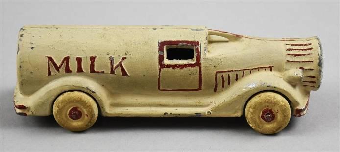 c1930 Barclay Slush Cast Figural Milk Bottle Truck