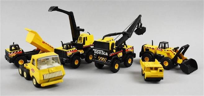 (6) Vintage Tonka Truck Construction Vehicles