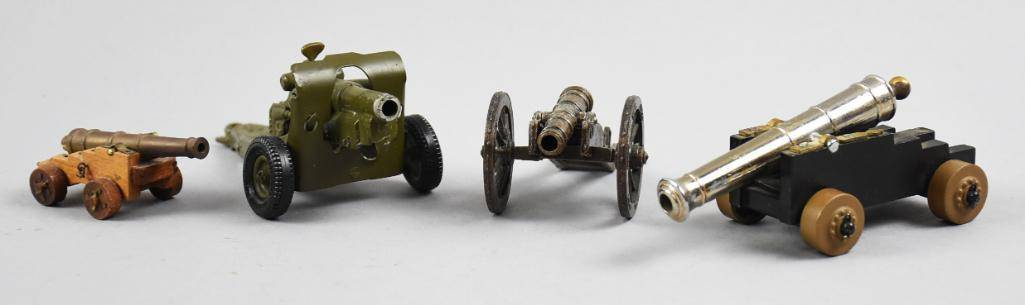 Vintage Die Cast Military Canons, England, Italy