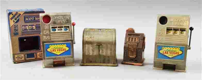 Vintage Las Vegas Slot Machine Banks