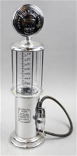 Vintage Style Chrome Plate Gas Pump Liquor Dispenser