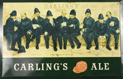 Vintage Carling Ale Tin Sign