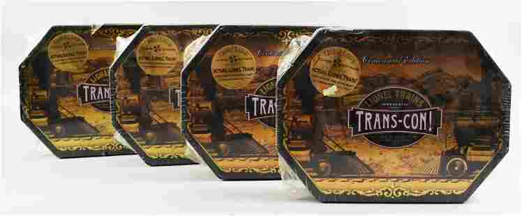 (4) Factory Sealed Trans-Con Lionel, Centennial Edition
