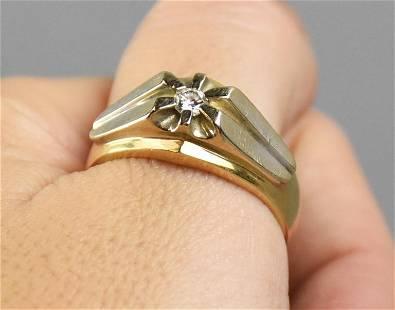 Vintage MCM 10K Natural Diamond Ring