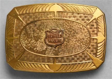 RARE Vintage Richfield Gasoline Belt Buckle