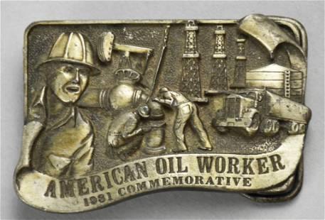 1981 Ltd Ed Commemorative American Oil Worker Belt