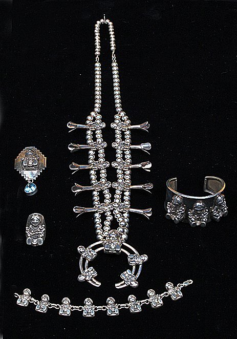 5 pc. Sterling Story Teller Jewelry Parure