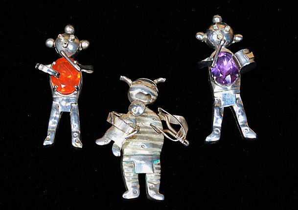 3 Sterling Native American Figurines