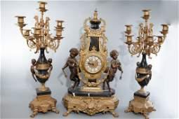 Brevettato Garniture Imperial Clock Candelabras