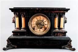 Seth Thomas Column Adamantine Mantle Clock