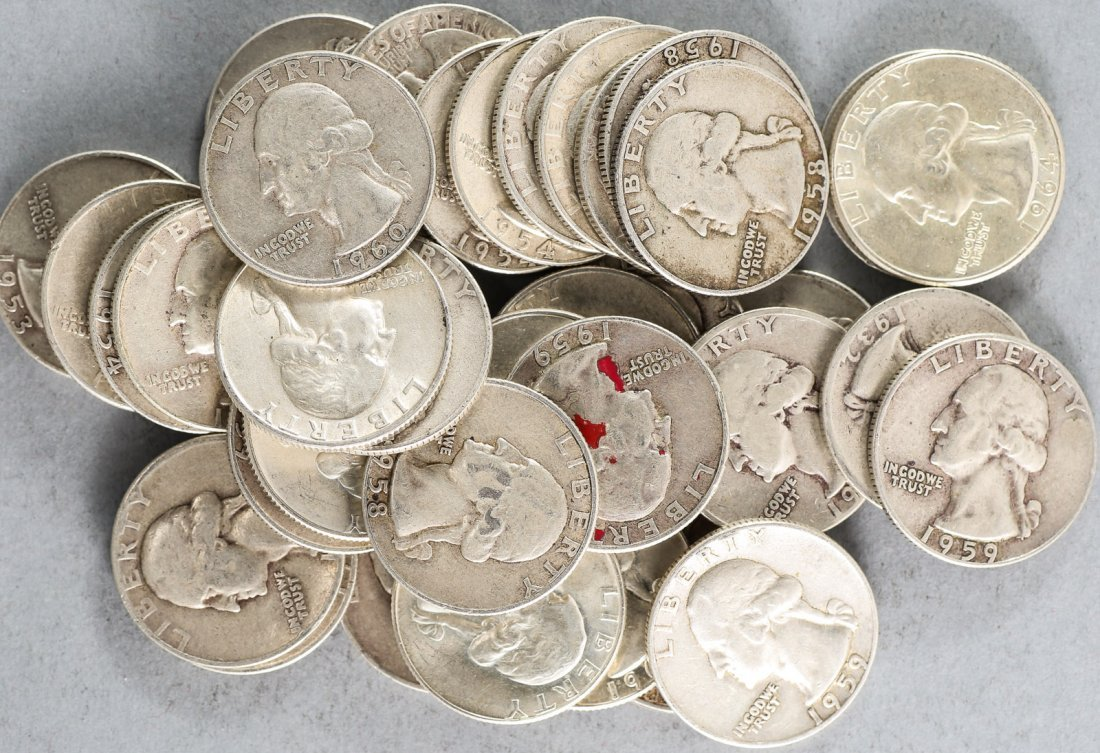 Lot Silver Quarters