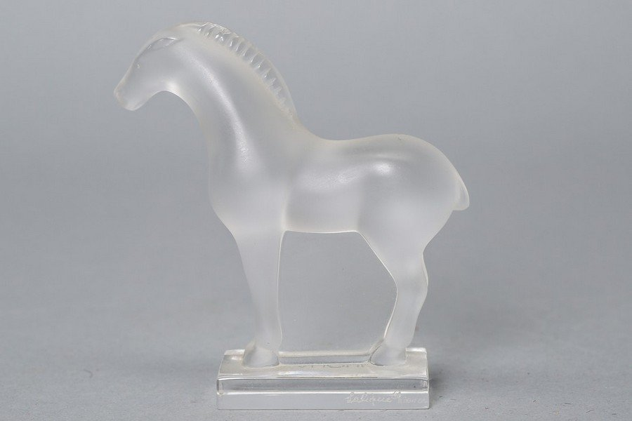 Small Lalique Tang or Cheval Style Horse