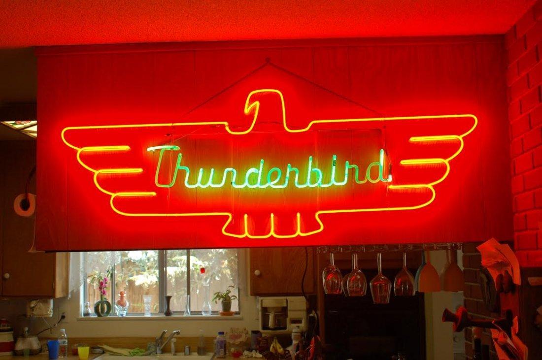 Original 1950's Ford THUNDERBIRD Neon Sign