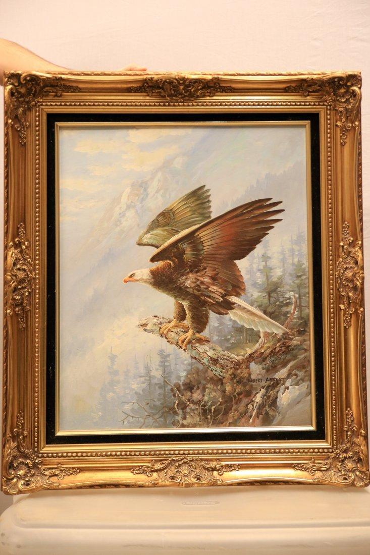 Robert K. Abbett Oil on Canvas American Eagle