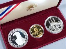1984 Olympics Gold & Silver Coin Set, Los Angeles