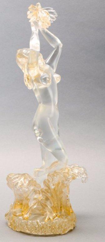 Murano Avem Glass Nude c. 1950