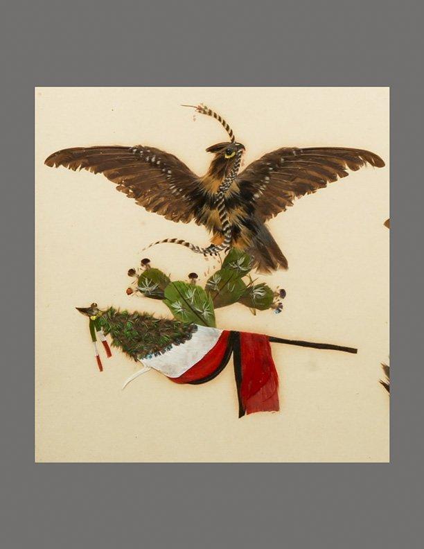 Antique c1850 Patriotic Feather Artwork, United States - 2