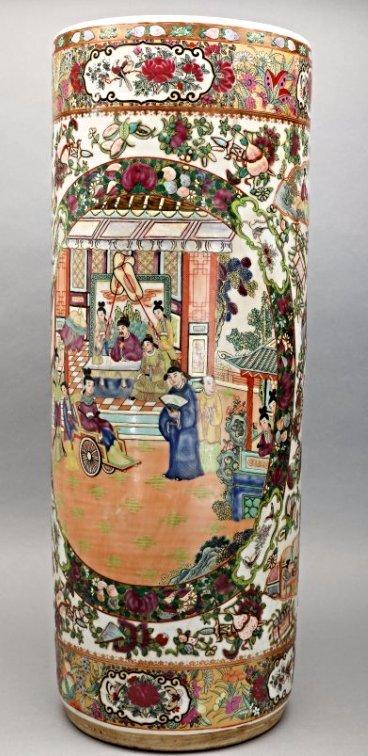Antique Chinese Famille Rose Umbrella Stand
