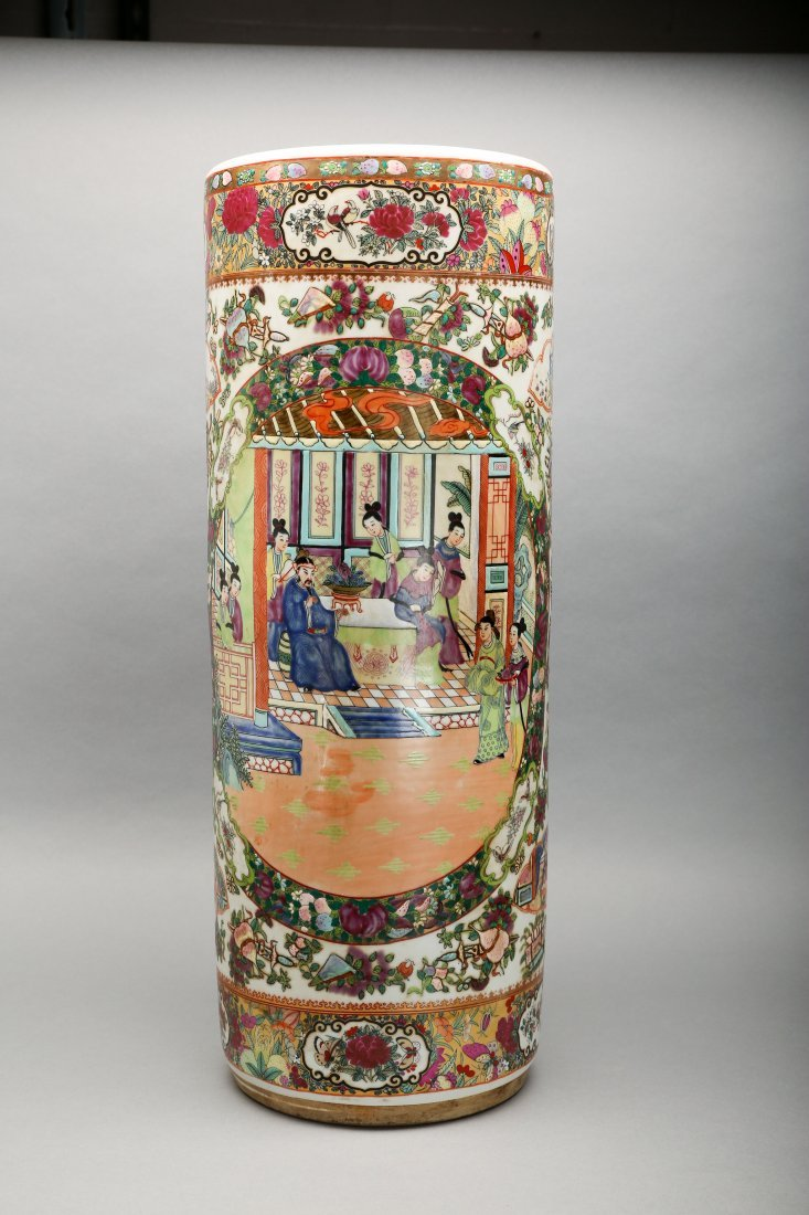 Antique Chinese Famille Rose Umbrella Stand - 6