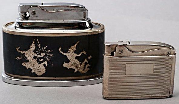 2 Vintage Sterling Silver Ronson Lighters