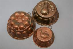 Antique Copper Molds Food Pudding Jelly French?