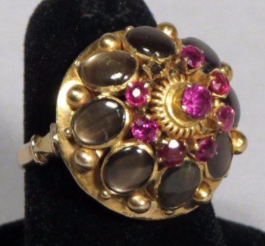 Vintage 14k Gold Thai Princess Ring