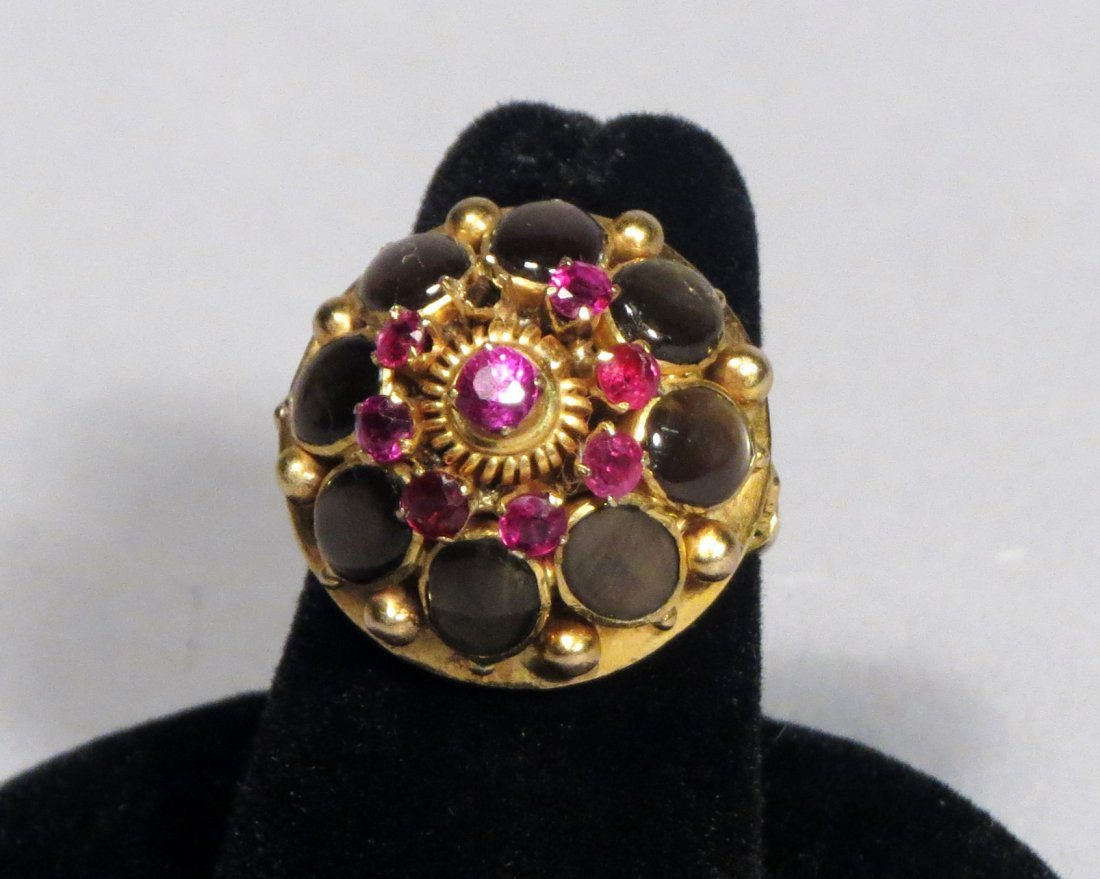 Vintage 14k Gold Thai Princess Ring - 2