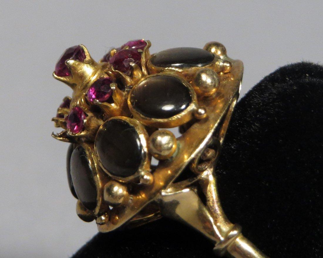 Vintage 14k Gold Thai Princess Ring - 3