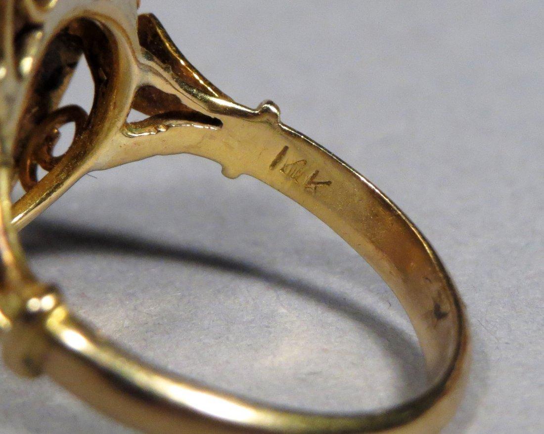 Vintage 14k Gold Thai Princess Ring - 4