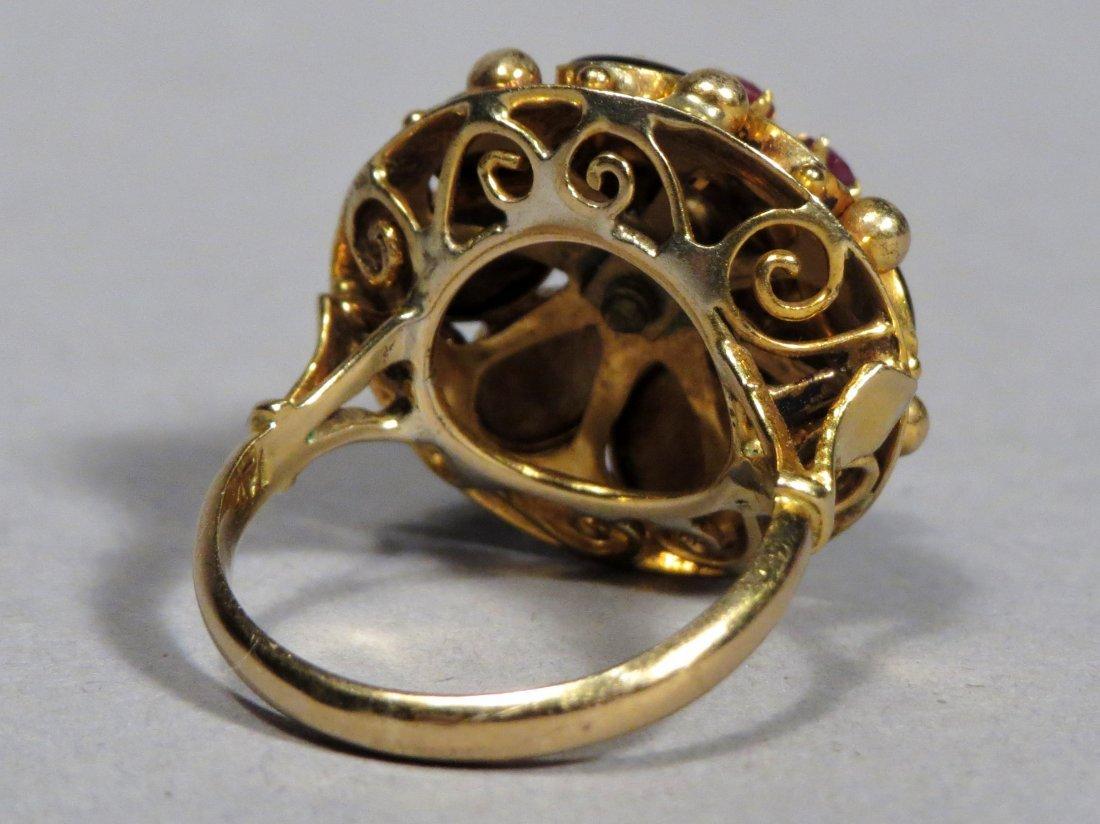 Vintage 14k Gold Thai Princess Ring - 5