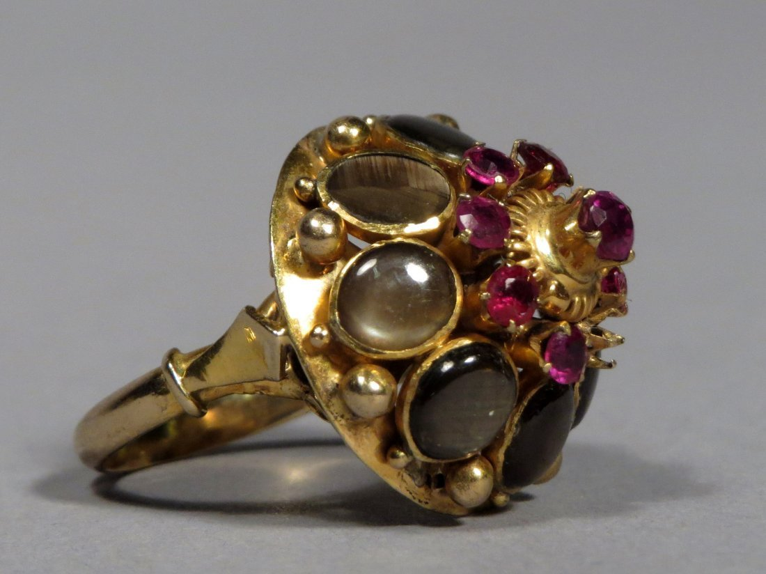 Vintage 14k Gold Thai Princess Ring - 6