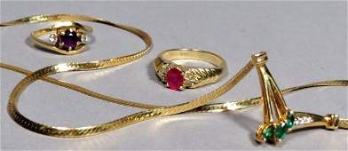 3 Pc. 14K Gold Jewelry Lot