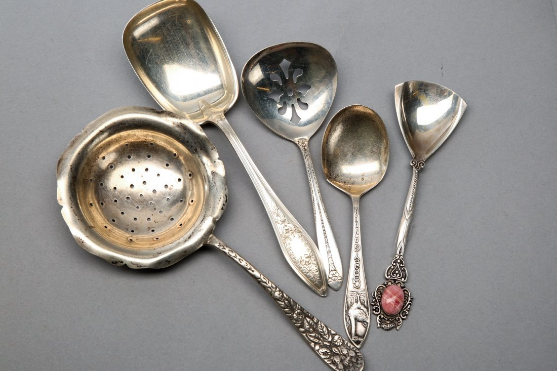 Silver lot Sterling and Rare Goosey Gander child's Soon