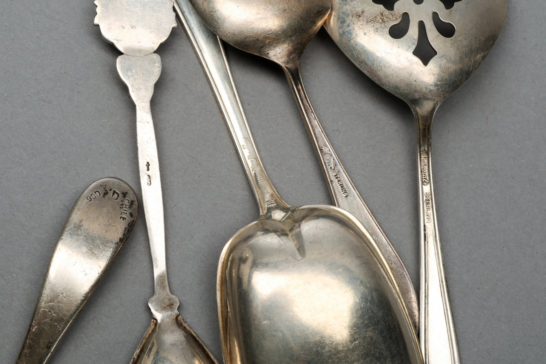 Silver lot Sterling and Rare Goosey Gander child's Soon - 2