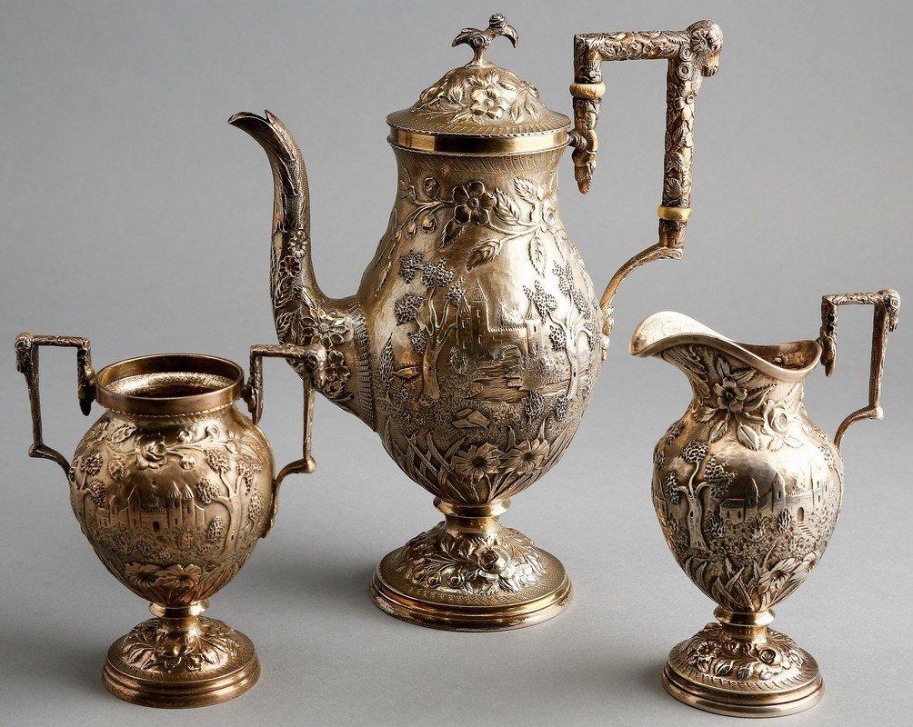 Fabulous A.G. Schultz Baltimore Sterling Tea Set