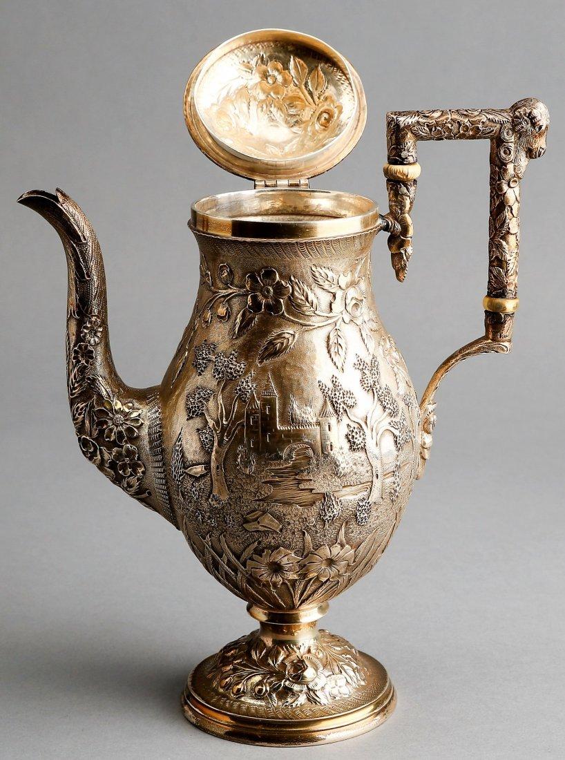 Fabulous A.G. Schultz Baltimore Sterling Tea Set - 2