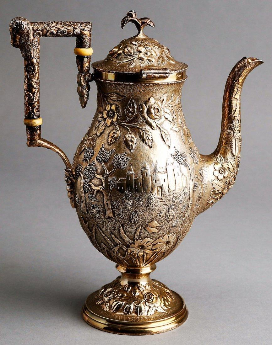 Fabulous A.G. Schultz Baltimore Sterling Tea Set - 4