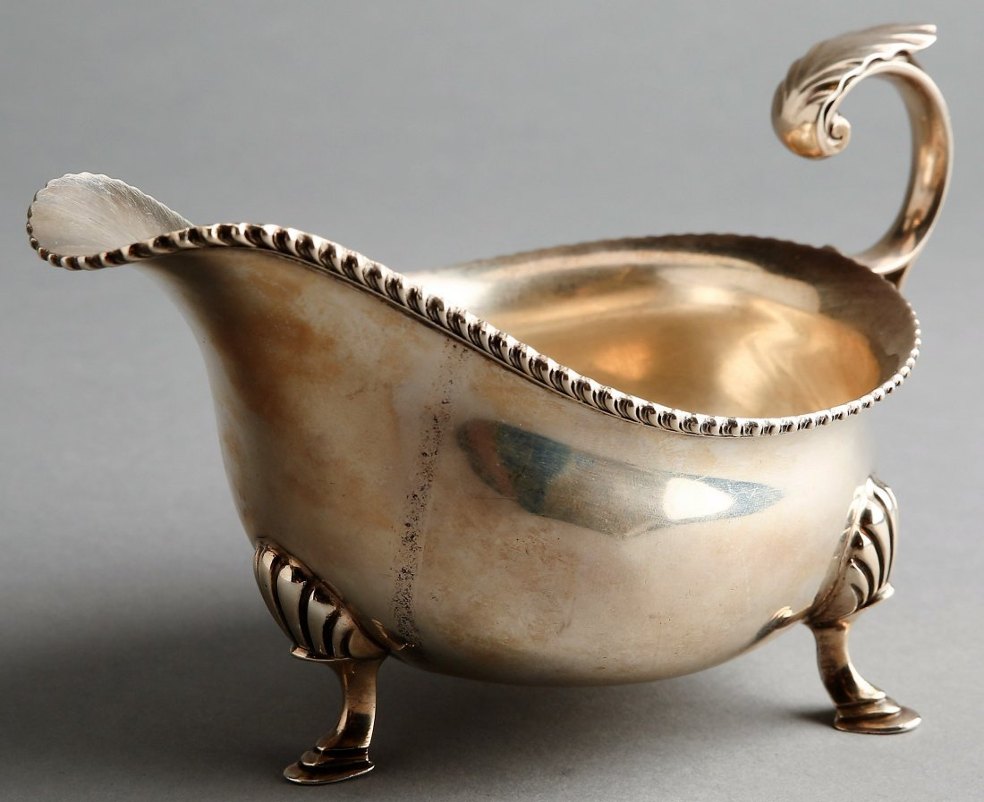 1899 George Hape English Sterling Silver Gravy Boat - 2