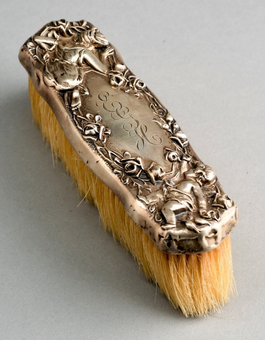 c1910 William Kerr Sterling Putti Brush
