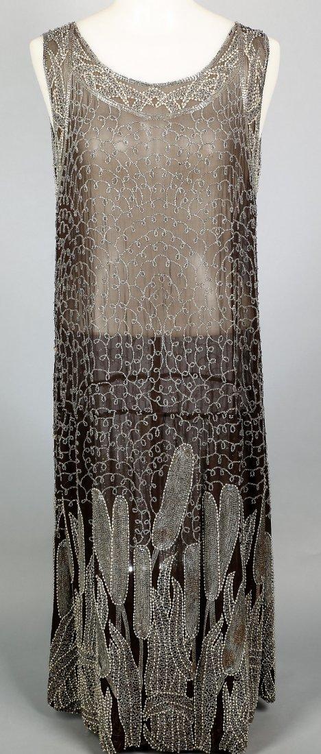 c1920 Heavily Beaded Flapper Dress
